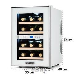 Wine Cooler Fridge Refrigerator Drinks Chiller 12 Bottles 34 L LCD Bar white