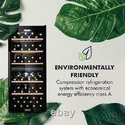 Wine Cooler Fridge Refrigerator Drinks chiller 102 bottles 100W Steel LED Black