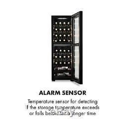Wine Cooler Fridge Refrigerator drinks beer chiller105L 39 Bottles 2 zones Black