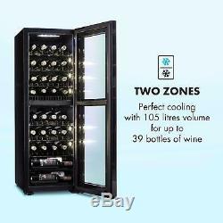 Wine Cooler Fridge Refrigerator drinks beer chiller105l 39 Bottles Black