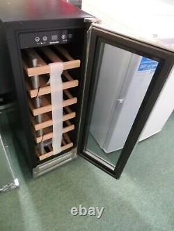 Wine Cooler Fridge Single Zone 19 Bottles WS19SDX Black & Stainless Steel UK