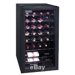Wine Cooler Polar Black 28 Bottles Drinks Chiller Refrigerator Commercial Bar