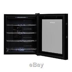 Wine Cooler Refrigerator Fridge Mini Bar14l 4 Bottles Touch Glass Energy A Black