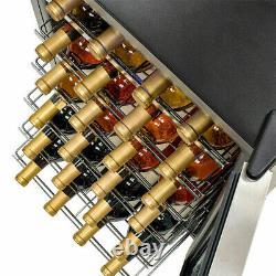 Wine Cooler Touch Screen Control Wine Fridge Glass Door Drinks Cellar 35 Bottles