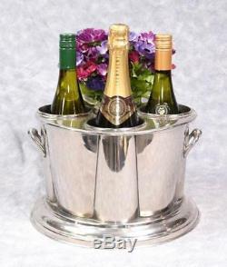 Wine Cooler Wine Bucket Ice Bucket Holds 4 Bottles Nickel Plate