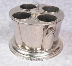 Wine Cooler Wine Bucket Ice Bucket Holds 4 Bottles Nickel Plate Round