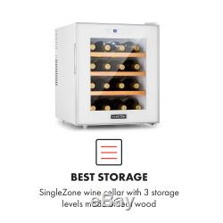 Wine Cooler drinks chiller refrigerator 48l Touch LED 16 bottle 70W White