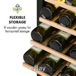 Wine Cooler fridge Drinks refrigerator 77 bottles 191 L 8 shelve LCD Touch Black