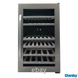 Wine Drinks Cooler Dual Zone 38 Bottle 114L Stainless Steel Undercounter Chiller
