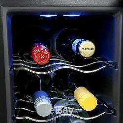 Wine Fridge 12 Bottle Cooler Silent Motor Less Noise