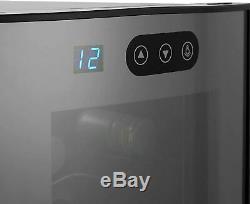 Wine Fridge 12 Bottle Cooler Silent Motor Touchscreen Refrigerator Cabinet