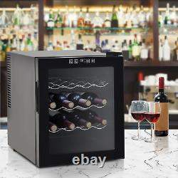 Wine Fridge Cooler Mini Beer Thermoelectric 16 Bottle Drinks Rack Table Top LED
