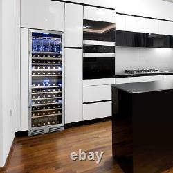 Wine Fridge Cooler Refrigerator Large 425L 165 Bottles LED 24 Wine Glasses Black