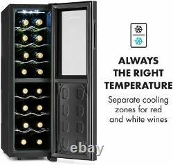 Wine Fridge Cooler Refrigerator Touch Control, 16 Bottles, Black, 83H Klarstein