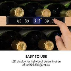 Wine Fridge Drinks Cooler Refrigerator 24 Bottles Built-in LED 3 Shelves Black