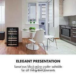 Wine Fridge Drinks cooler Refrigeartor135 L 41 Bottle Glass Door Touch LCD Black