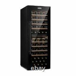 Wine Fridge Refrigerator Drinks Cooler 2 Zones 191 L 77 Bottles Touch LED Black