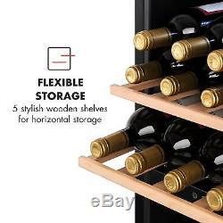 Wine Fridge Refrigerator Drinks cooler chiller 102 bottles 100W Steel LED Black