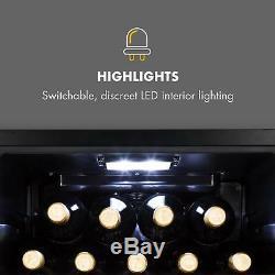 Wine Fridge cooler Refrigerator Drinks 34 Bottles 100W Energy A LED Touch Black