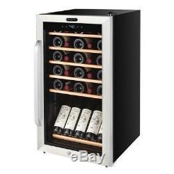 Wine Refrigerator Chiller 34 Bottle Display Shelf Cooler Stainless Steel Digital