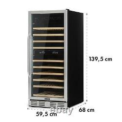 Wine Refrigerator cooler 313 litre 116 Bottles double insulated glass Black