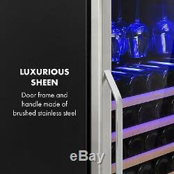 Wine Refrigerator cooler 331 litre 127 Bottles double insulated glass Black