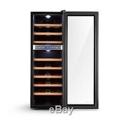 Wine cooler Fridge refrigerator 76 litres cooling Drinks 27 Bottles LCD Steel