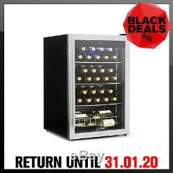 Wine cooler Refrigerator Beverage Chiller 48 Bottles 128 l Xl Steel Glass LED