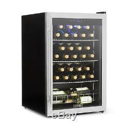 Wine cooler Refrigerator Beverage Chiller 48 Bottles 128 l Xl Steel Glass LED