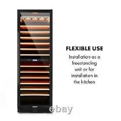Wine cooler fridge refrigerator 165 Bottles Glasses 2 Zones 425L Capacity Glass