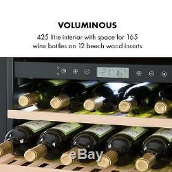 Wine cooler fridge refrigerator 165 Bottles Glasses 2 Zones 425L Capacity Glass
