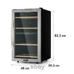 Wine cooler fridge refrigerator 2 zones 45 bottles 118L counter top Silver