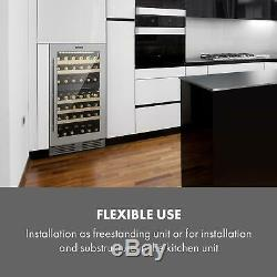 Wine cooler fridge refrigerator 2 zones 79 bottles 189L counter top Silver