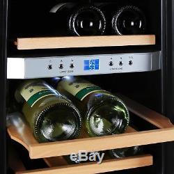 Wine cooler fridge refrigerator Beer mini bar 12 bottles counter top Silver