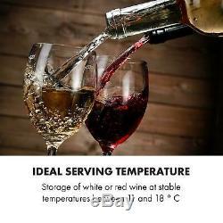 Wine cooler fridge refrigerator Beer mini bar 16 bottles counter top Silver