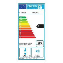 Wine fridge Drinks cooler refrigerator 77 bottles 191 L 8 shelve LCD Touch Black