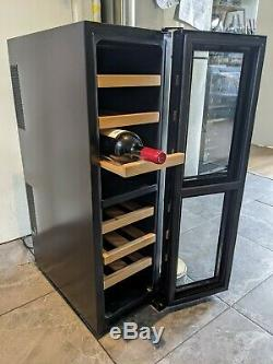 Wine fridge / cooler 16 bottle capacity dual zone